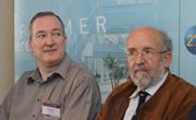 A gauche : Stéphane Udry / A droite : Michel Mayor